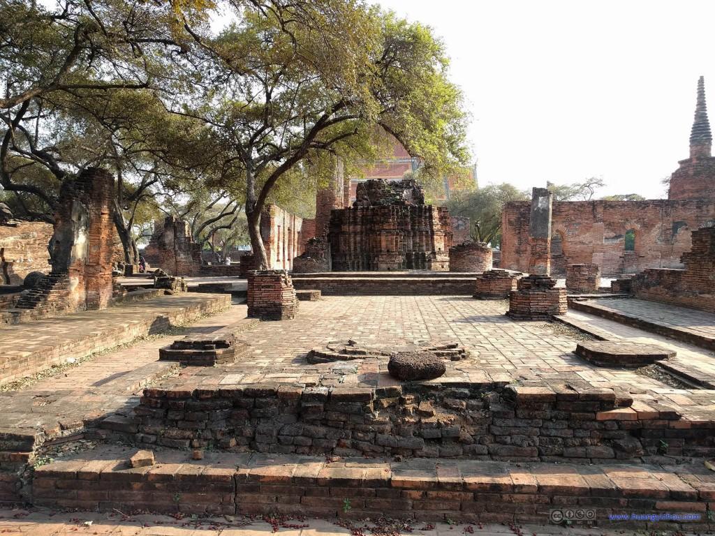 Wat Phra Si Sanphet 西部殿堂的遗迹