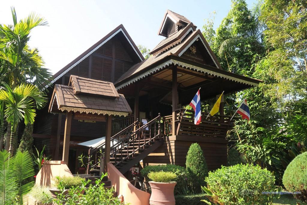 Pai镇中心,这是当地的法院