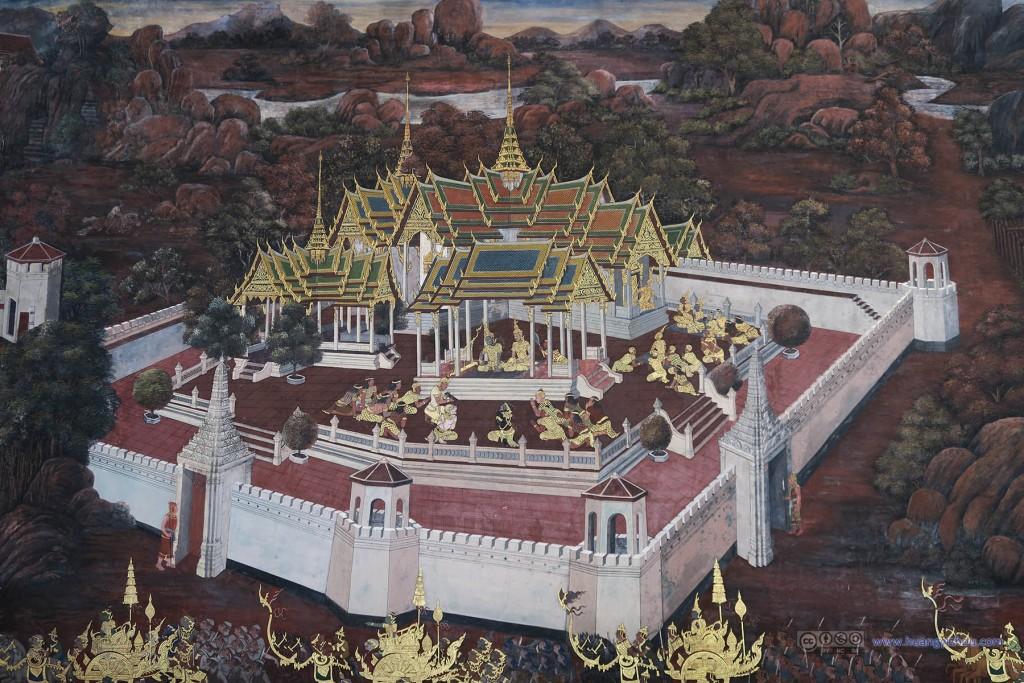 玉佛寺里面的一些壁画