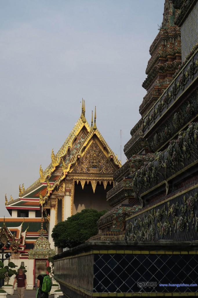 卧佛寺内,东西主轴
