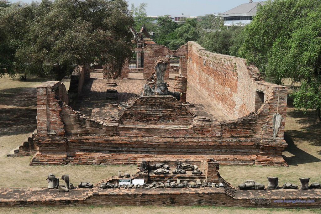 Wat Rat Praditthan,俯视的场景