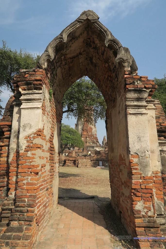 Wat Phra Ram的正门