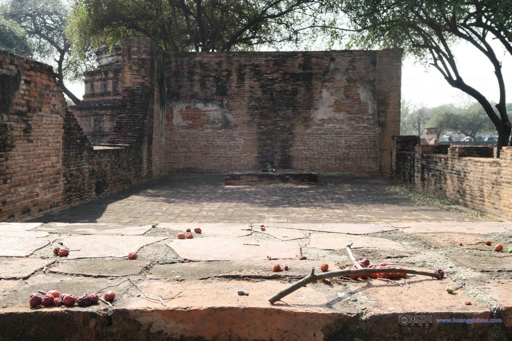 Wat Phra Ram里曾经的庙堂
