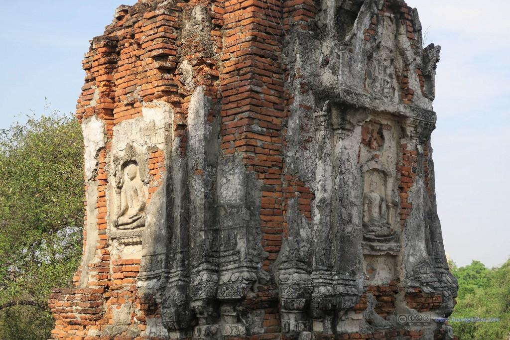 Wat Phra Ram里佛塔雕塑细节