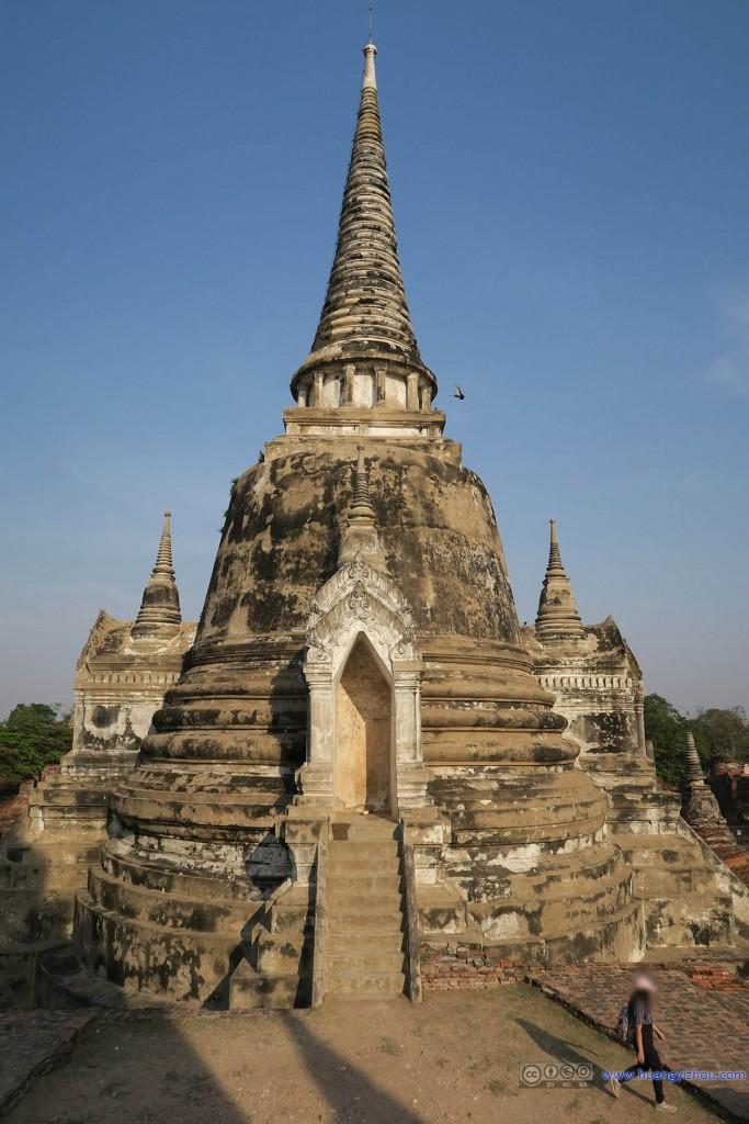 Wat Phra Si Sanphet内的舍利塔