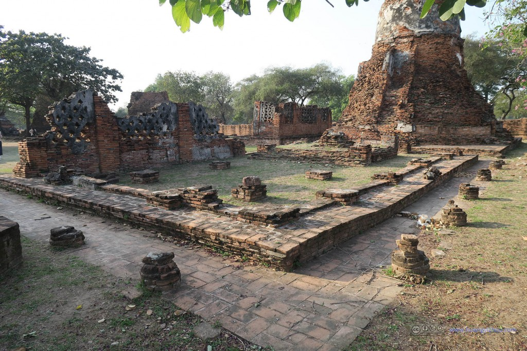 Wat Phra Si Sanphet内的断壁残垣