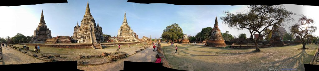 Wat Phra Si Sanphet,三大舍利塔的全景