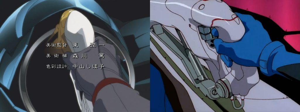 Comparison between RahXephon OP (Left, 41 seconds) and EVA OP(Right, 51 seconds)