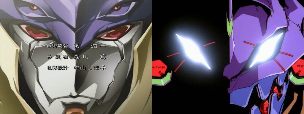 Comparison between RahXephon OP (Left, 41 seconds) and EVA OP(Right, 66 seconds)